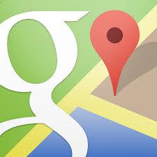 google map で道案内地図を作成
